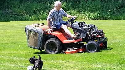 Dog & Lawnmower Sherrill Farm Devon